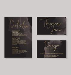 luxury dark chocolate wedding invitation cards vector image