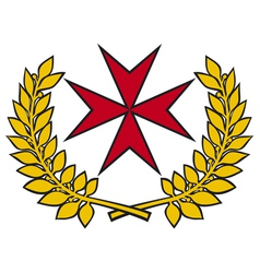 maltese cross vector image