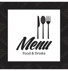 Menu icons design vector image