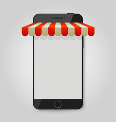 Mobile phone store or e-commerce concept vector