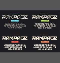 Modern display font named rampage light vector
