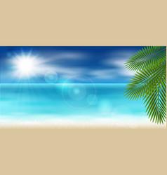 panorama sea vector image