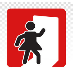 Person exit sign flat icon for app or website vector