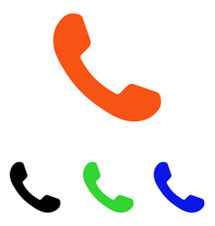 Phone receiver flat icon vector