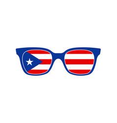 puerto rico sunglasses vector image