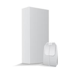 rectangular tea box with tea bag mock up vector image