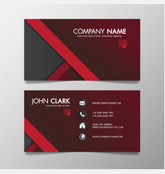 Red and black modern creative business template vector