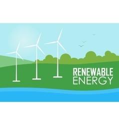 Renewable energy Wind generator turbines vector