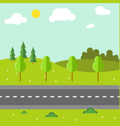 rural landscape with road vector image