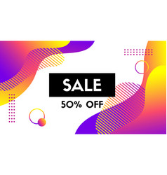 sale banner template abstract background vector image