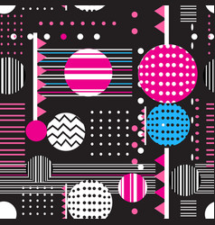 Seamless geometric graphic pattern vector