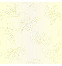 seamless texture contour branches with leaves vector image vector image