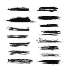 Set of grunge brush strokes vector