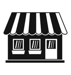 Shop icon simple style vector