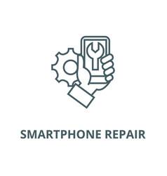 smartphone repair line icon linear concept vector image