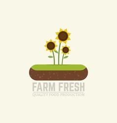 Soil flat emblem vector image