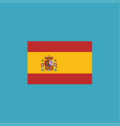 spain flag icon in flat design vector image