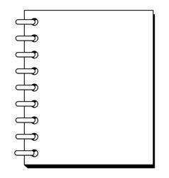 spiral copybook vector image