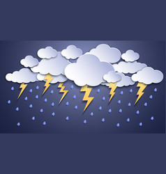 summer thunderstorms storm clouds thunderstorm vector image