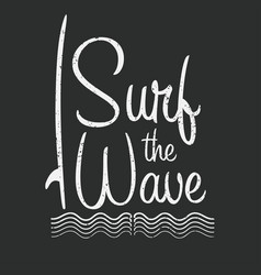 surf typography for t shirt print surf wave vector image