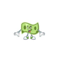 Surprised paper money cartoon character mascot vector
