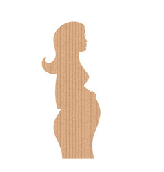 the cardboard in the shape of pregnancy woman vector image