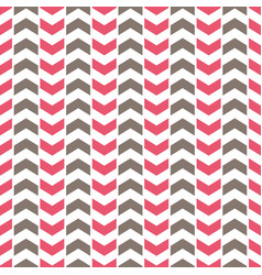 tile pattern with pink and grey arrows on white vector image