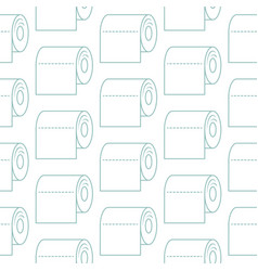 Toilet paper icon seamless pattern paper vector