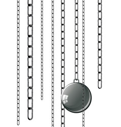 Vintage prison shackles vector