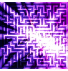 Violet maze with light vector image