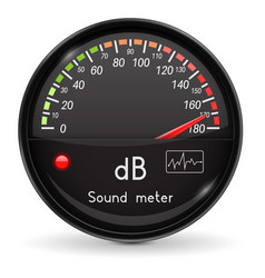 Volume unit meter sound audio equipment high vector