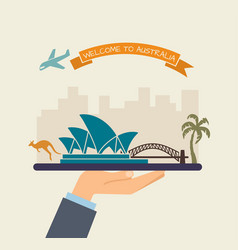 Welcome to australia attractions of australia on vector