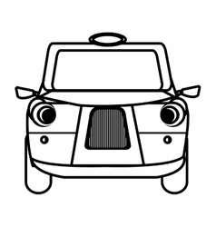 White british cab graphic vector