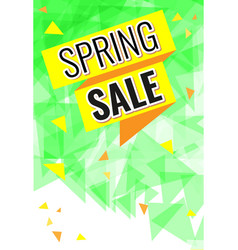 yellow and orange ribbon with text spring sale vector image
