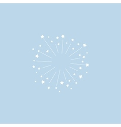 Star explosion minimal style design for vector image vector image