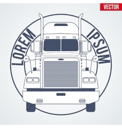 Truck symbol for delivery company vector image