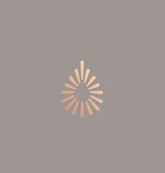 abstract colorful fiber dot water aqua logo design vector image