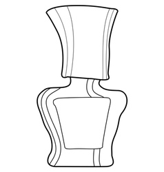 bottle of nail polish vector image