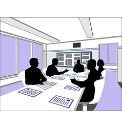 Businessmen Meeting silhouette vector image vector image
