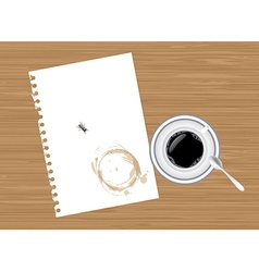 Coffee and paper vector image