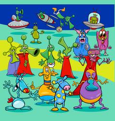 comics aliens fantasy characters group vector image vector image