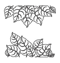 figure leaves background icon vector image