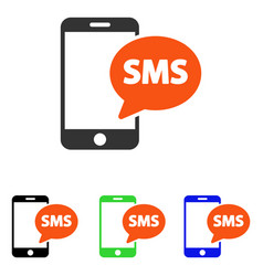 Phone sms flat icon vector
