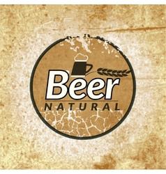 Beer vintage label vector image vector image