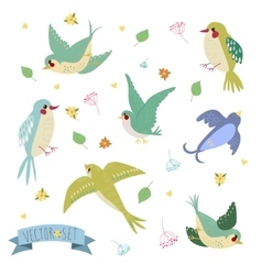 Bird on white background vector image vector image