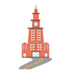 building contemporary city road vector image