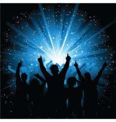 disco crowd vector image