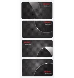 eps10 brochure business card banner metal glass vector image