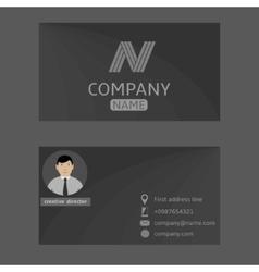 Grey card vector image vector image