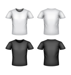 male t-shirt isolated on white vector image